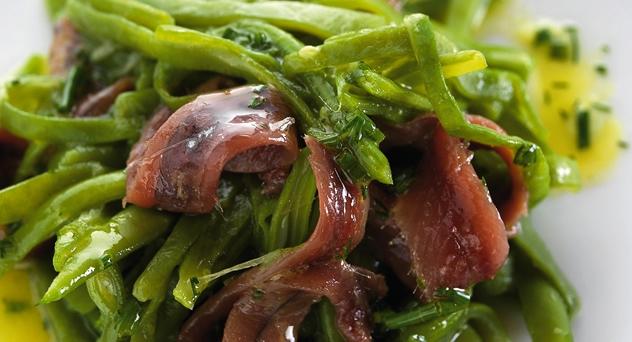 ensalada judias y anchoas