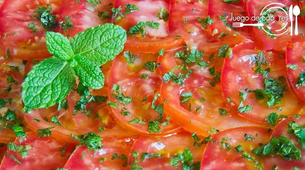 Carpaccio tomate y vainilla
